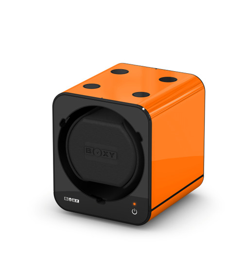 BOXY FANCY Brick Single Watch Winder  - Orange (Full)