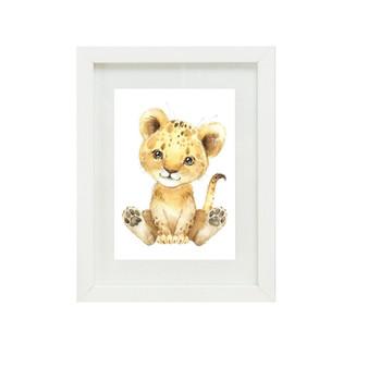 Lion Canvas oil print.