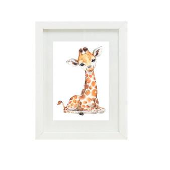 Giraffe Canvas oil print.