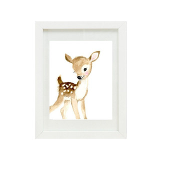 Deer Canvas oil print.