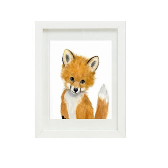 Fox Canvas oil print.