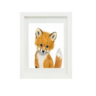 Fox Canvas oil print.