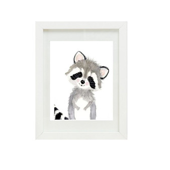 Racoon Canvas oil print.