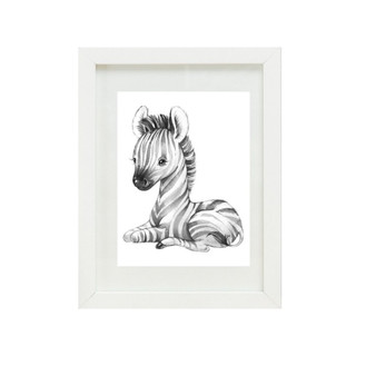 Zebra Canvas oil print.
