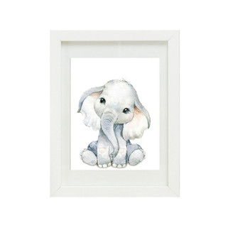 Elephant Canvas oil print.