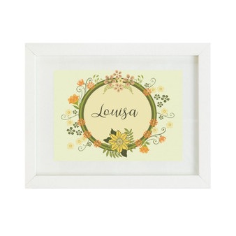 Yellow Floral Personalised