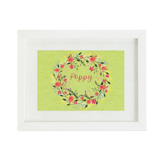 Pink and Green Floral Personalised