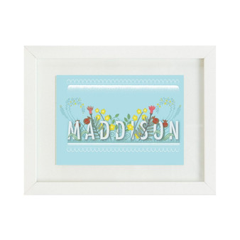 Blue Floral Personalised