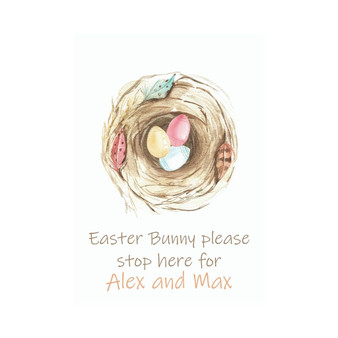 Easter Wreath personalised