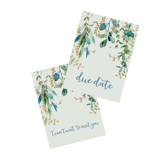 Pretty Floral Pregnancy milestone cards
