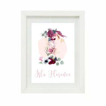 Floral Monogram Personalised