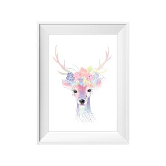 kids print wall décor art nursery art babys room décor whimsical pictures inspirational words deer boho motif