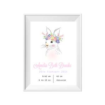 Unicorn, Deer or Bunny Birth Print
