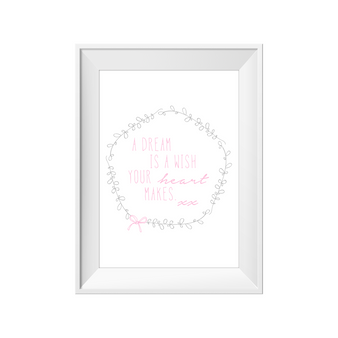 kids print wall décor art nursery art babys room décor whimsical pictures inspirational words dream quote motif