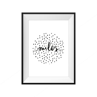 kids print wall décor art nursery art babys room décor whimsical pictures inspirational words customised bespoke speckles circle motif