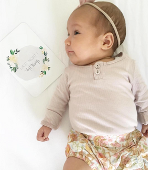 baby milestone card sets  flower motif flower motif