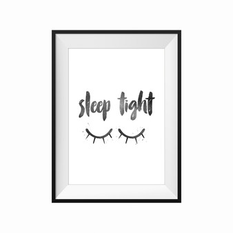 kids print wall décor art nursery art babys room décor whimsical pictures inspirational words sleeping motif