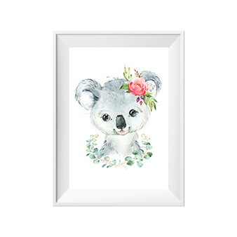 Koala with Wreath Print