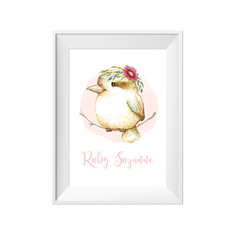 Kookaburra Personalised Name Print