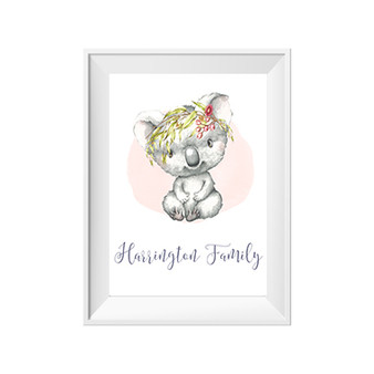 Koala Personalised Name Print