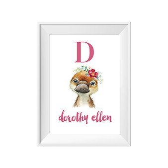 Platypus Personalised Name Print