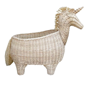 Rattan Unicorn Basket