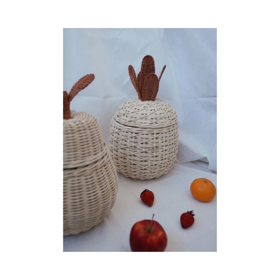 The Pineapple Rattan Basket