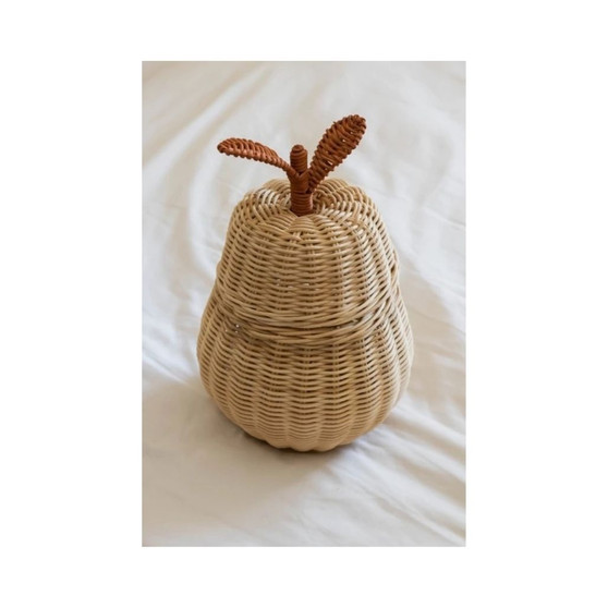 The Pear Rattan Basket