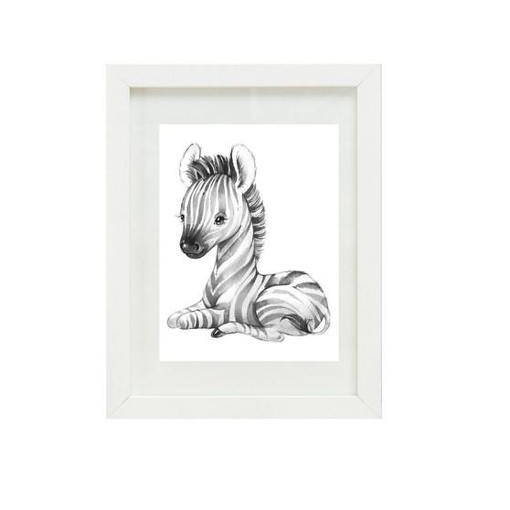 Zebra Canvas oil print.