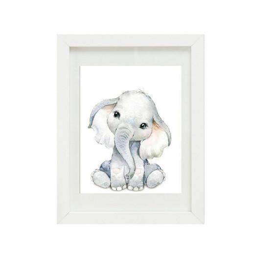 Elephant Canvas oil print.