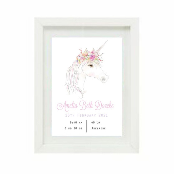 Unicorn Birth Print