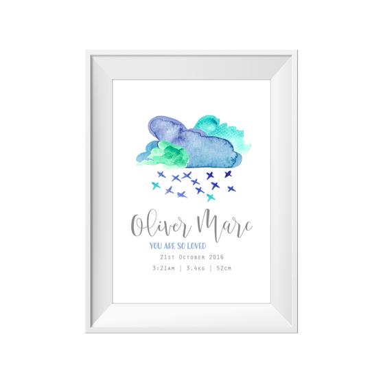 Cloud Birth Print