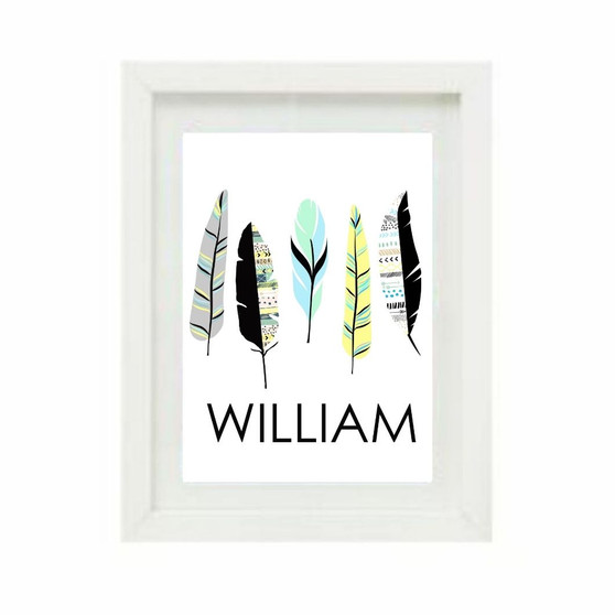 Tribal Feathers Personalised