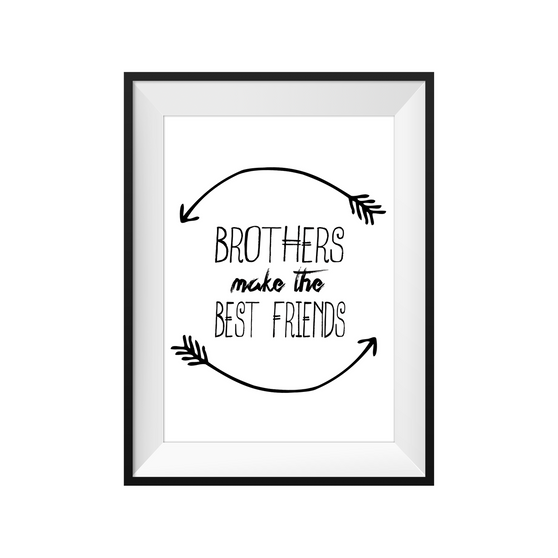 kids print wall décor art nursery art babys room décor whimsical pictures inspirational words brothers motif