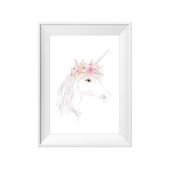 kids print wall décor art nursery art babys room décor whimsical pictures inspirational words unicorn motif