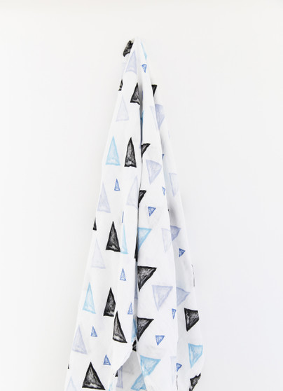 baby wrap swaddle bamboo muslin triangle motif
