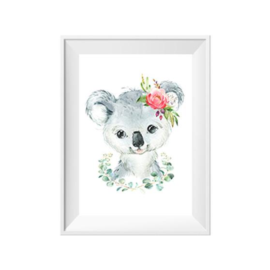 Koala with Wreath Print