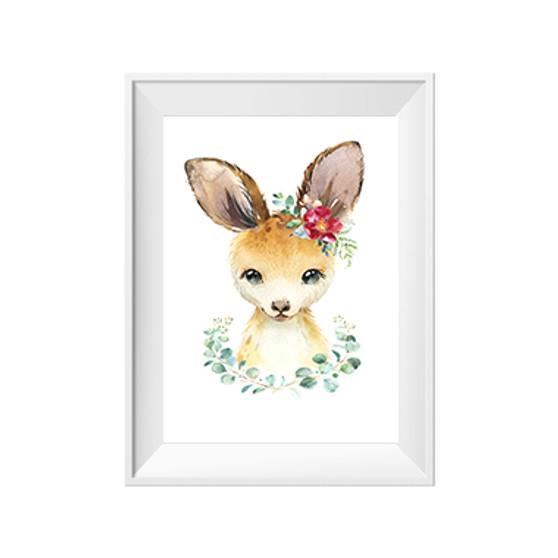 Kanga with Wreath Print