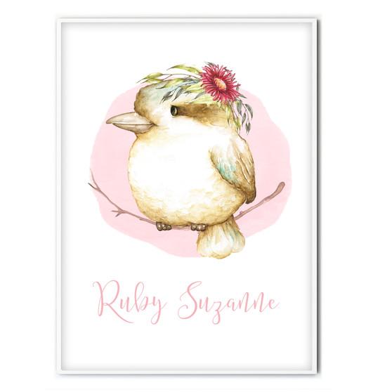 Kookaburra Personalised Name Print