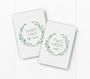 baby milestone card sets  leaf wreath motif
