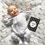 baby milestone card sets  black and white abstract motif black and white abstract motif