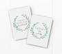 pregnancy milestone card sets  leaf wreath motif