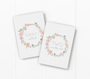 baby milestone card sets  leaf wreath motif