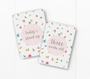 baby milestone card sets  flower motif