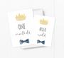 baby milestone card sets  prince crown motif
