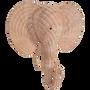 Rattan Elephant Wall Décor