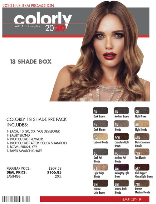 COLORLY 18 SHADE DEAL