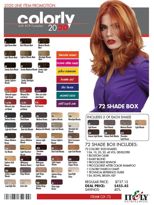 COLORLY 72 SHADE DEAL