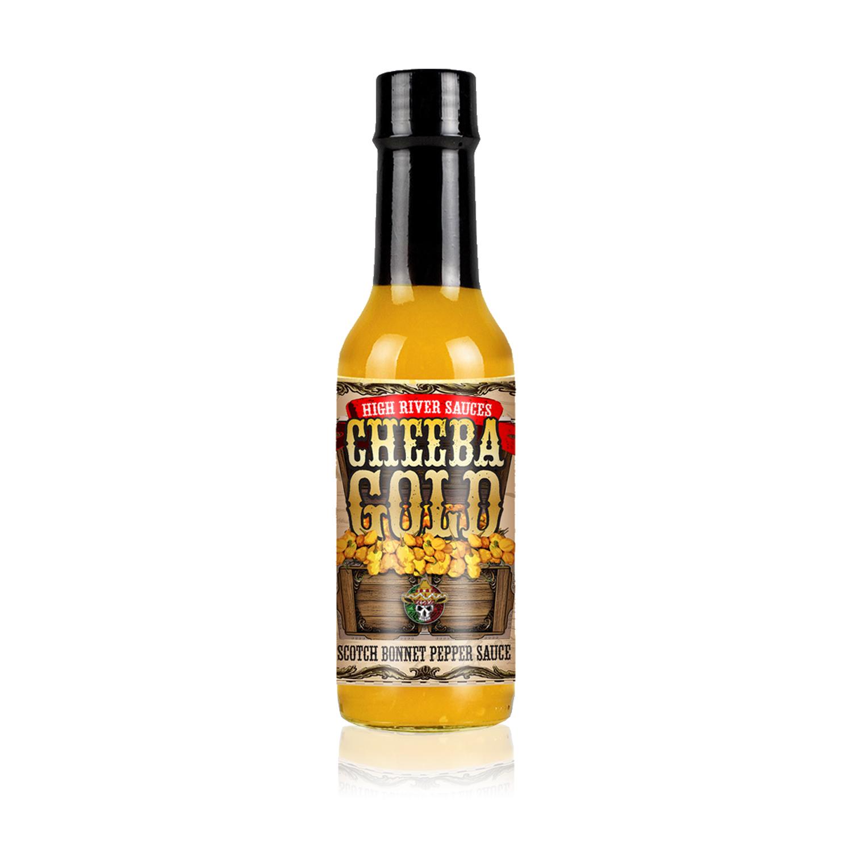 Cheeba Gold hot sauce bottle