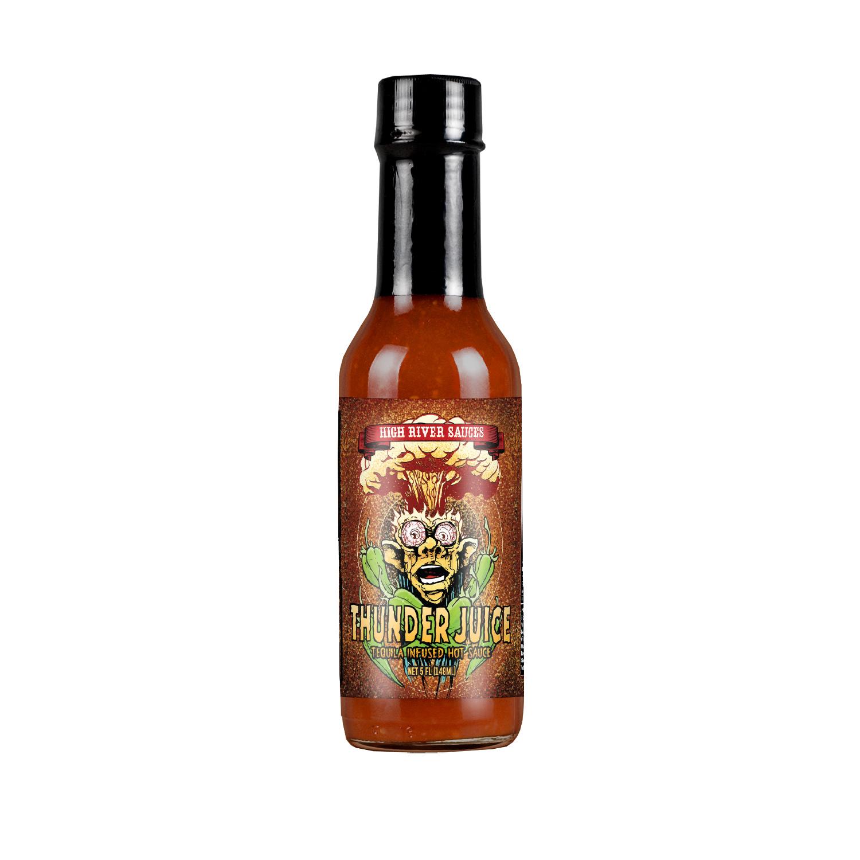 Thunder Juice hot sauce bottle